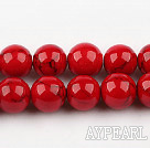 dyed bloodstone beads,12mm,red , sold per 15.75-inch strand