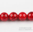 dyed bloodstone beads,14mm,red , sold per 15.75-inch strand