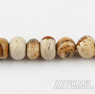 picture jasper stone beads ,9-12mm,sold per 15.75-inch strand