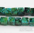 Chrysocolla beads.5*5mm cube,green, sold per 15.75-inch strand