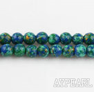 turquoise beads,4mm round,blue and green,sold per 15.35-inch strand