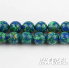 turquoise beads,8mm round,blue and green,sold per 15.35-inch strand