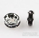A Rhinestone Spacer Beads,6mm ,with silver round lace,sold per Pkg of 100