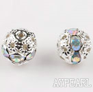 Round Rhinestone,8mm,mixed color,with the silver flower cap,Sold per Pkg of 100