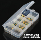 plastic beads container,24*65*130mm,rectangle, sold by each