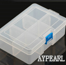 plastic beads container,58*110*162mm,rectangle, sold by each