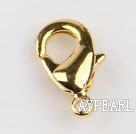 Lobster claw clasp, copper,golden,7*13mm. Sold per pkg of 500.
