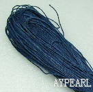 Cotton Wax Cord, Deep blue , 1mm/strand, about 540m/bundle ,sold by each.