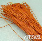 Cotton Wax Cord, Orange, 1mm/strand, about 540m/bundle ,sold by each.