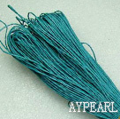 Cotton Wax Cord, sky, 1mm/strand, about 540m/bundle ,sold by each.