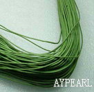 Cotton Wax Cord,green, 1mm/strand, about 540m/bundle ,sold by each.