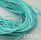 Cotton Wax Cord, blue , 1mm/strand, about 540m/bundle ,sold by each.