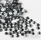 Rhinestone cabochon, grey, silver-foil back ,3.0-3.2mm faceted round, SS12. Sold per pkg of 1440.