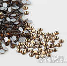 Rhinestone cabochon, smoky, silver-foil back ,3.0-3.2mm faceted round, SS12. Sold per pkg of 1440.