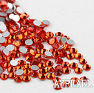 Rhinestone cabochon, orange, silver-foil back ,3.0-3.2mm faceted round, SS12. Sold per pkg of 1440.