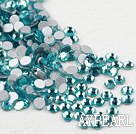 Rhinestone cabochon,lake blue, silver-foil back ,3.0-3.2mm faceted round, SS12. Sold per pkg of 1440.