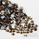 Rhinestone cabochon, brown, silver-foil back ,3.0-3.2mm faceted round, SS12. Sold per pkg of 1440.