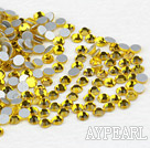Rhinestone cabochon,lemon yellow, silver-foil back ,3.0-3.2mm faceted round, SS12. Sold per pkg of 1440.