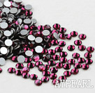 Rhinestone cabochon,garnet, silver-foil back ,3.0-3.2mm faceted round, SS12. Sold per pkg of 1440.