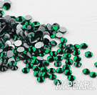 Rhinestone cabochon,green, silver-foil back ,3.0-3.2mm faceted round, SS12. Sold per pkg of 1440.