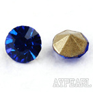 Rhinestone Cabochon, deep blue, 3.4-3.5mm faceted round, SS14,PP27. Sold per pkg of 1440pcs.