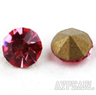 Rhinestone Cabochon, pinkish red, 3.4-3.5mm faceted round, SS14,PP27. Sold per pkg of 1440pcs.