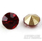 Rhinestone Cabochon, bright red, 3.4-3.5mm faceted round, SS14,PP27. Sold per pkg of 1440pcs.