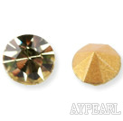 Rhinestone Cabochon, light yellow, 3.4-3.5mm faceted round, SS14,PP27. Sold per pkg of 1440pcs.