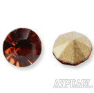 Rhinestone Cabochon, light siam, 3.4-3.5mm faceted round, SS14,PP27. Sold per pkg of 1440pcs.