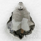 austrian crystal beads,22mm baroque,grey,sold per pkg of 2
