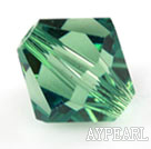 Austrian crystal beads, 4mm bicone,light green.Sold per pkg of 1440