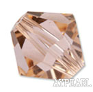 Austrian crystal beads, 5mm bicone,champagne. Sold per pkg of 720.