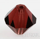 Austrian crystal beads, 5mm bicone,garnet. Sold per pkg of 720.