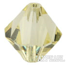 Austrain crystal beads, light yellow, 8mm bicone. Sold per pkg of 360.