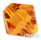 Austrain crystal beads, golden, 8mm bicone. Sold per pkg of 360.