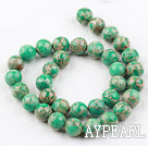 Imperial jasper beads,green, 12mm round, Sold per 15.16-inch strand.