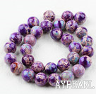Imperial jasper beads,purple,12mm round. Sold per 15.16-inch strand