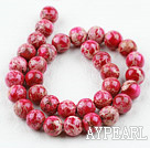 Imperial jasper Beads,red, 12mm round. Sold per 15.16-inch strand.