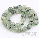 Prehnite beads,12mm round,green, Grade AB,Sold per 15.55-inch strand