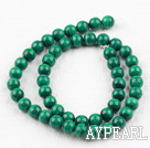 Grade A natural malachite beads,8mm round,green, sold per 15.75-inch strand