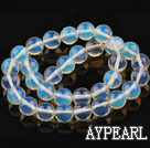Opal gemstone beads, white, 12mm round. Sold per 15.16-inch strand.
