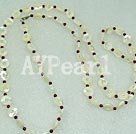 Wholesale garnet shell necklace