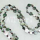 Wholesale garnet black lip shell necklace