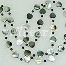 Wholesale black lip shell garnet necklace