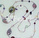 Wholesale multi-gem necklace