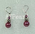 Wholesale pearl sea shell bead earring
