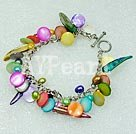dyed pearl shell bracelet