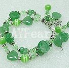 Wholesale aventurine crystal cat's eye bracelet