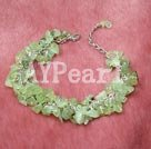 Wholesale Green rutilated quartz bracelet