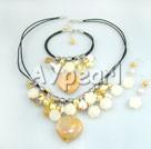 Wholesale pearl citrine set